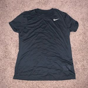Forest green Nike short sleeve fitted T-shirt